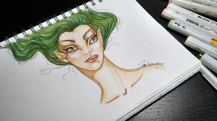 Green Elf by Jerzee-Girl