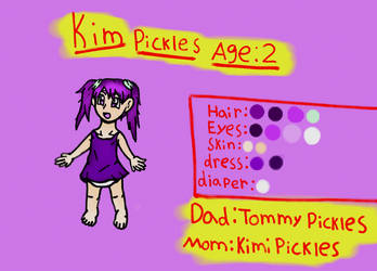 Rugrats OC Kim Pickles reference sheet by Pajakgirl