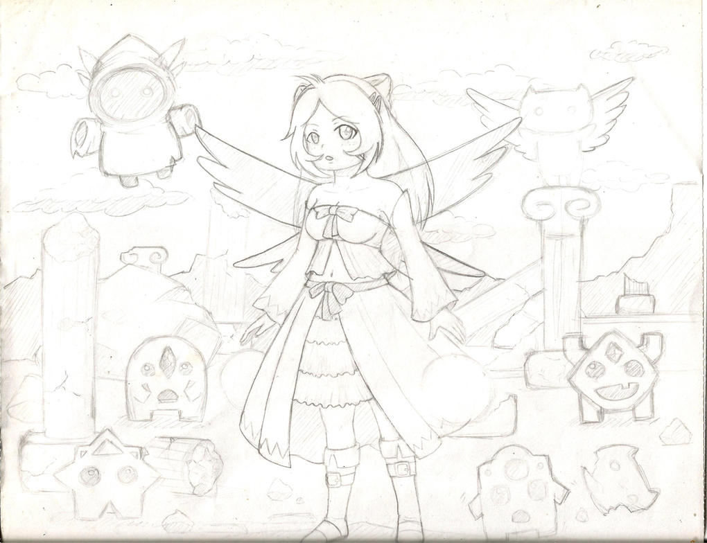 Natalie Epic Battle Fantasy FanArt sketch by MeiKitsune4