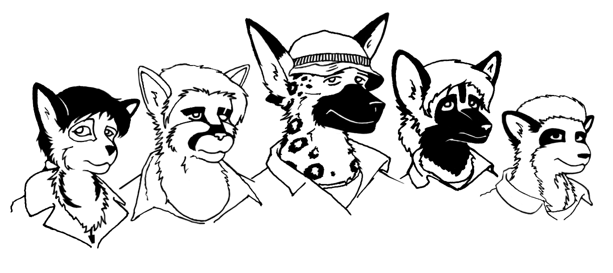 Pen and ink mugshots by Pyrosity