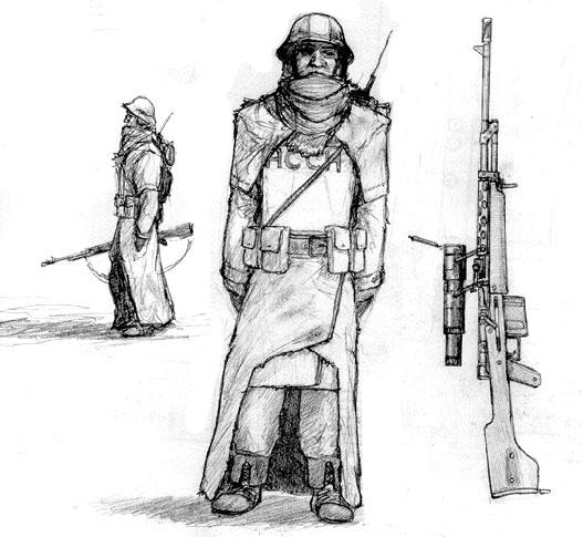 ASUN Slavik infantry by Pyrosity