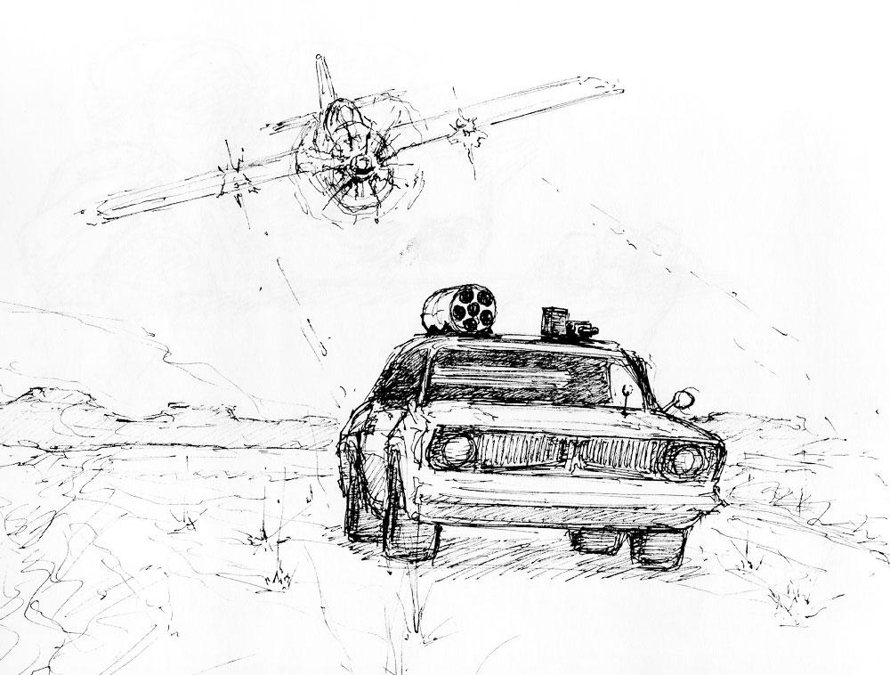 Interstate Ink Sketch by Pyrosity