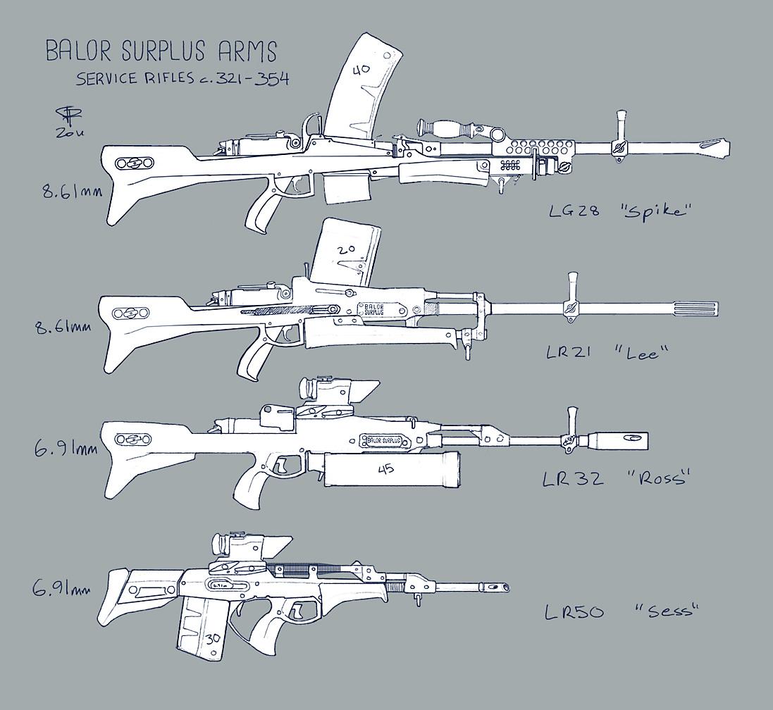 BSA Service Rifles c. 321-354 by Pyrosity