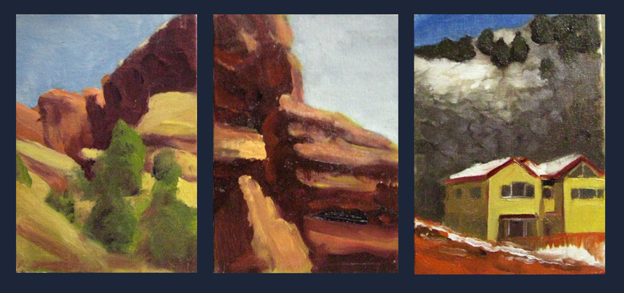 Landscape painting studies 1 by Pyrosity