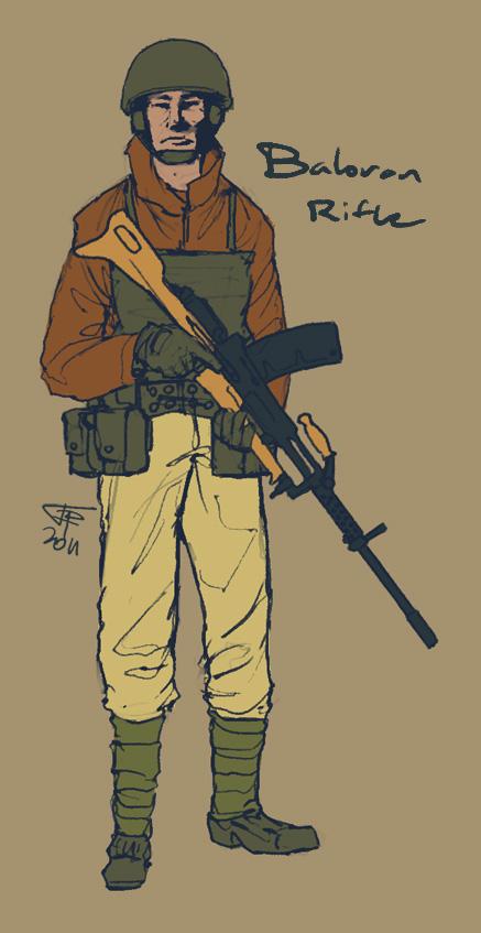 Baloran Rifleman by Pyrosity