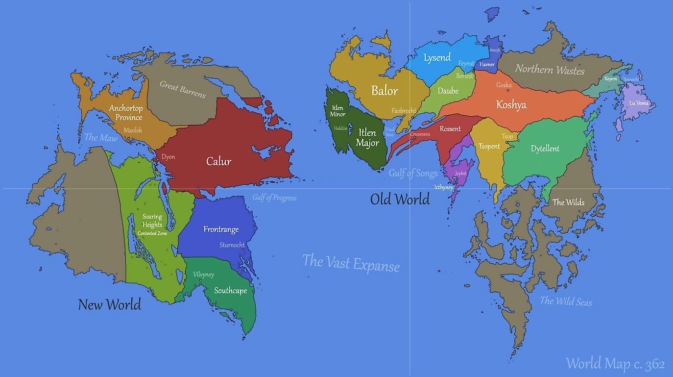 New Horizons World Map by Pyrosity