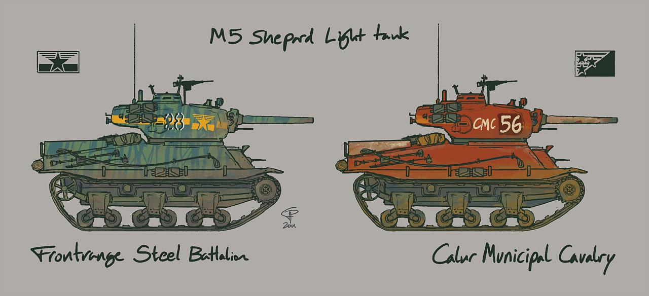 M5 Shepard Light Tank by Pyrosity