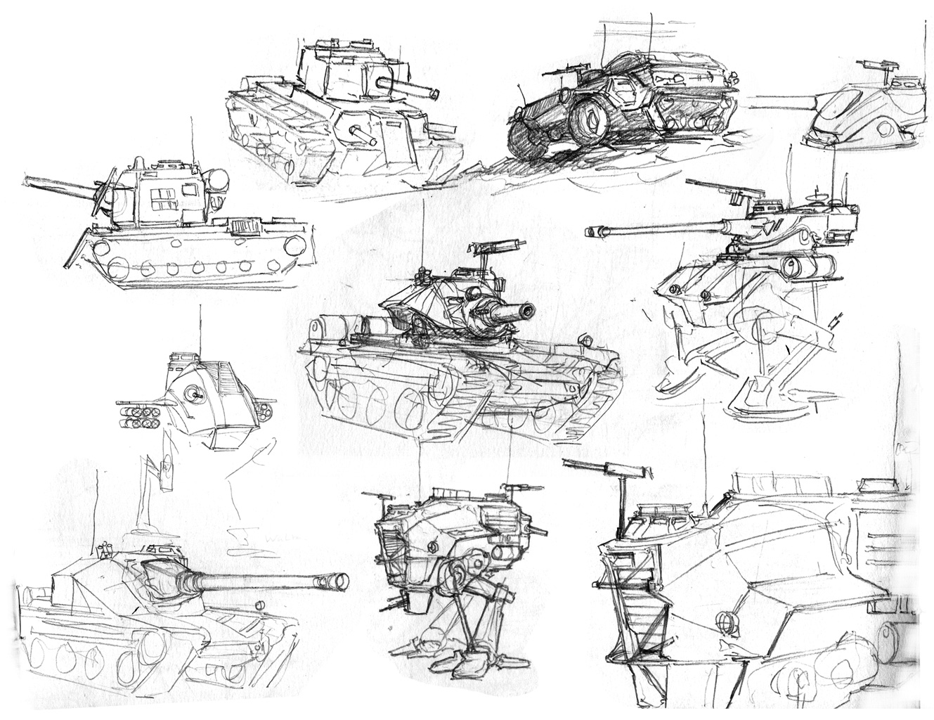 Tank sketches by Pyrosity