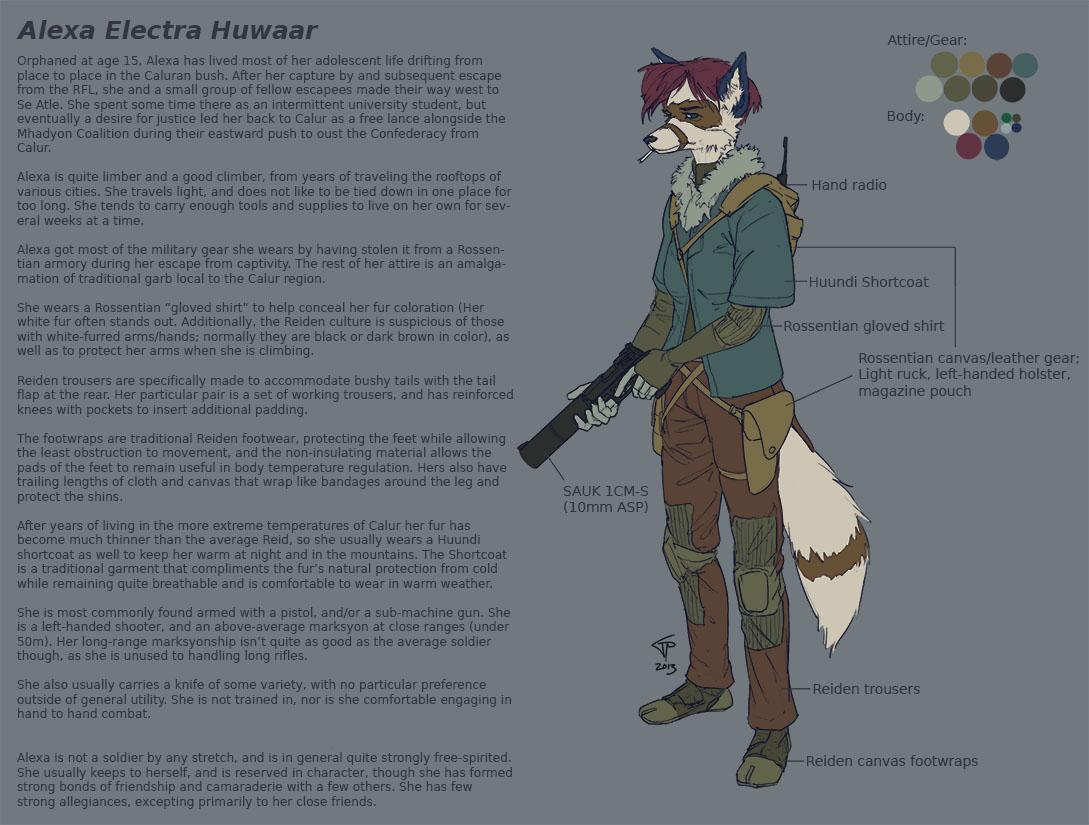 Alexa character notes by Pyrosity