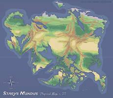 Starys Mundus Physical Map by Pyrosity