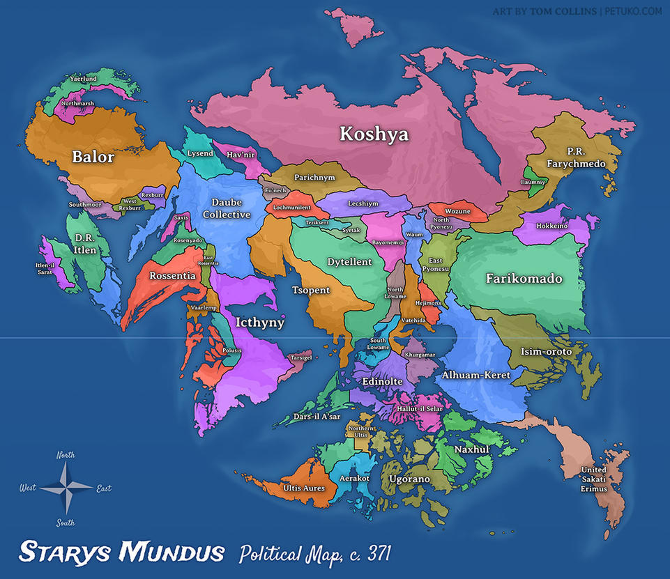 Starys Mundus Political Map by Pyrosity