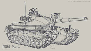 M8A1 Baron by Pyrosity