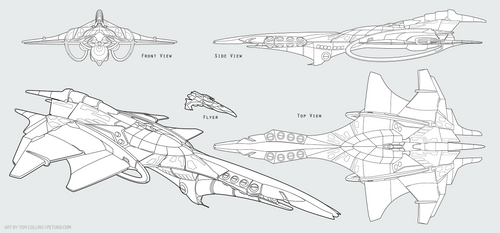 Commission - Ship Design (Lines)