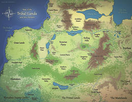 Map Commission - Tribal Lands (Physical) by Pyrosity