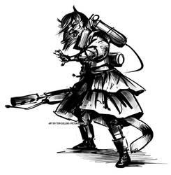 Fury (sketch) by Pyrosity
