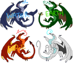 5 GBP Wyvern Adopts by LordMaddie