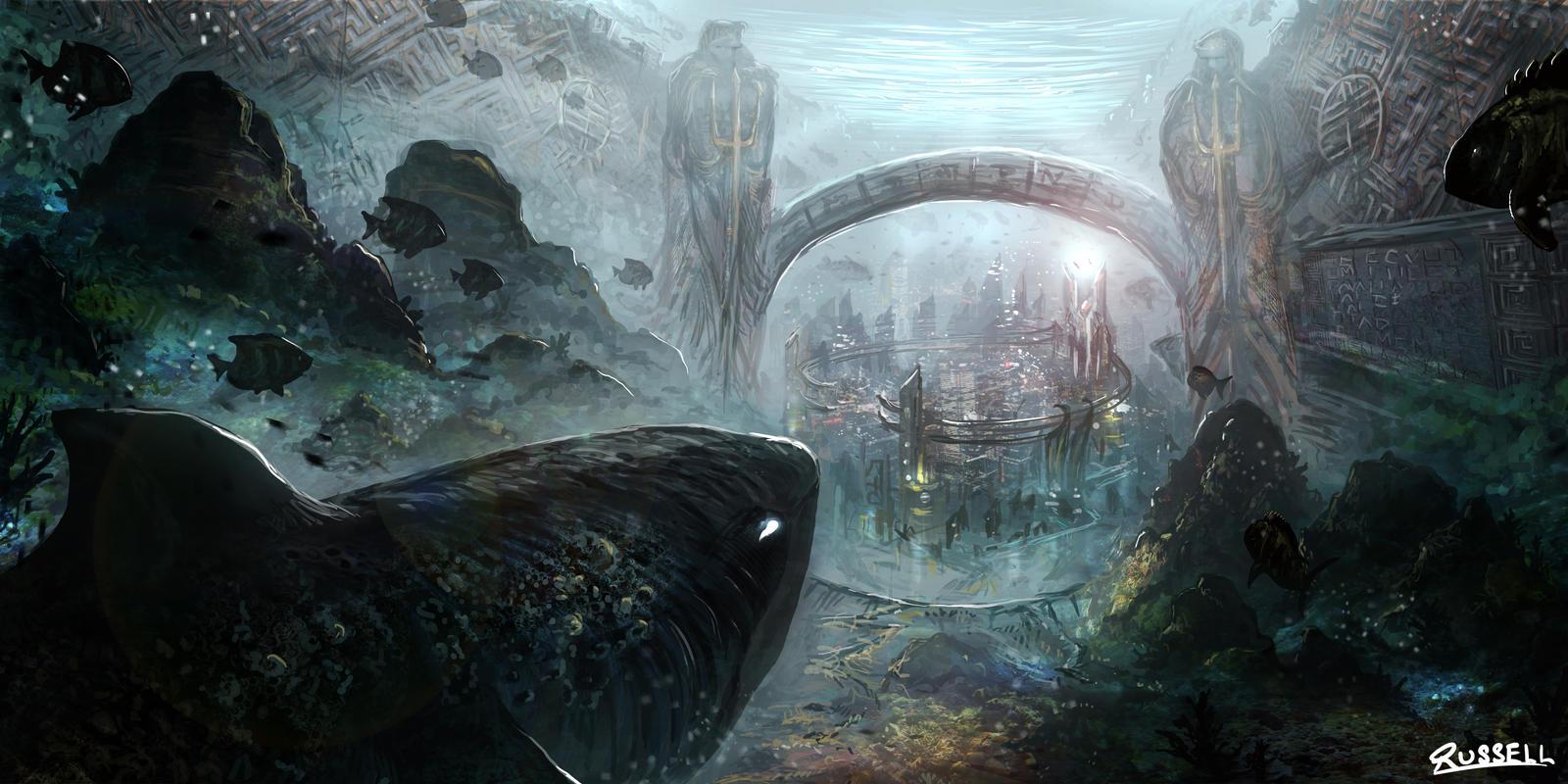 Underwater City By Ultragriffy On Deviantart