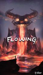 Inktober Day 10: Flowing
