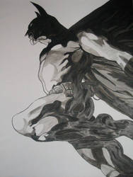 Batman Leaping by William-James