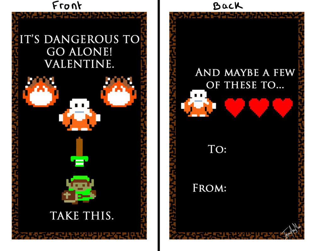 Valentine 1   LOZ   Its Dangerous To Go Alone By ImzadAmyMoon ...
