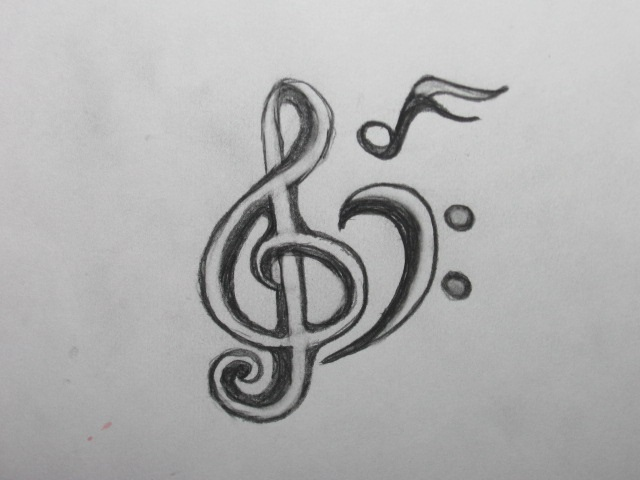 Music Tattoo Sketch Music Note Tattoo Sketch by