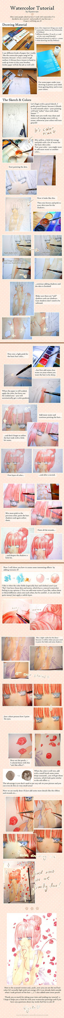 Just Be Friends - Watercolor Tutorial