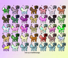 Free and custom dog adopts! batch 2 (closed) by Zahnel