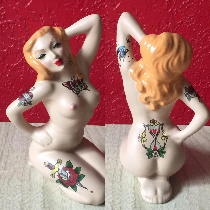 Nudie cutie tattooed vintage figurine~ by hellinahandbag