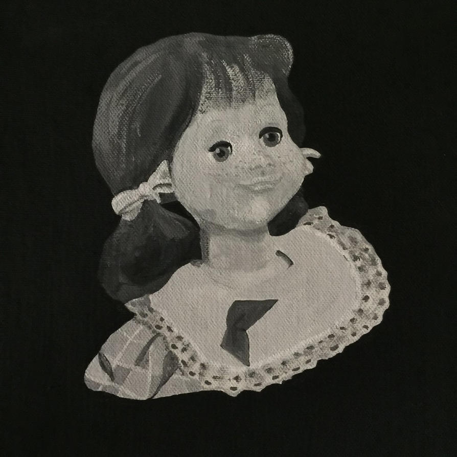 Living Doll ~ Talky Tina Twilight Zone Painting by hellinahandbag