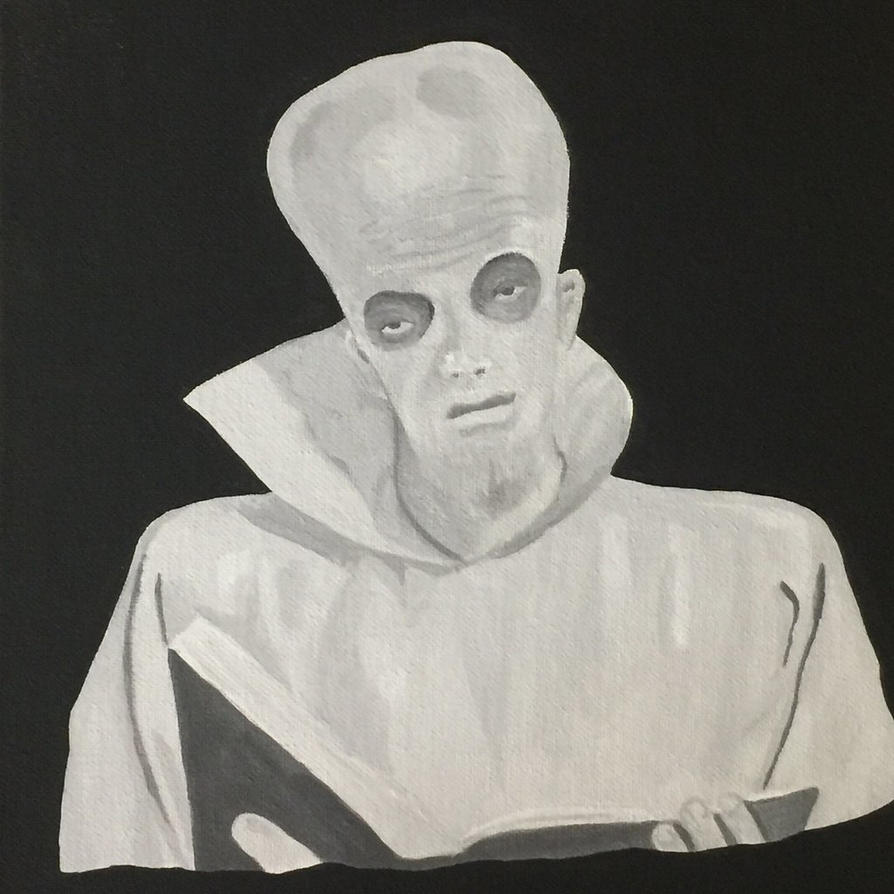 To Serve Man Twilight Zone inspired painting... by hellinahandbag