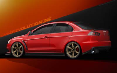 Mitsubishi Evolution X by EvolveKonceptz
