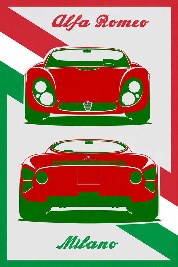 Alfa Romeo Stradale Poster By EvolveKonceptz On DeviantArt - Alfa romeo posters