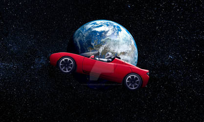 Tesla Roadster in Space