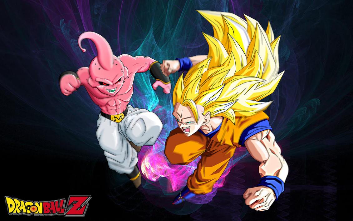 Dragon Ball Z Goku ssj 3 vs Majin Buu by Wilson-Adrian on ...