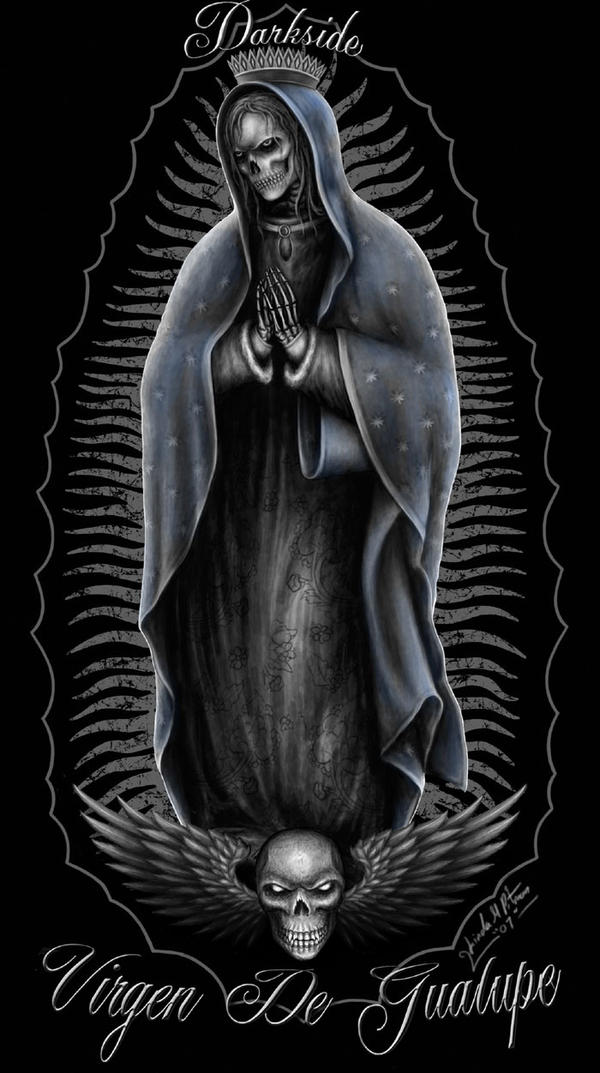 Virgin Mary Skeleton by Sheblackdragon