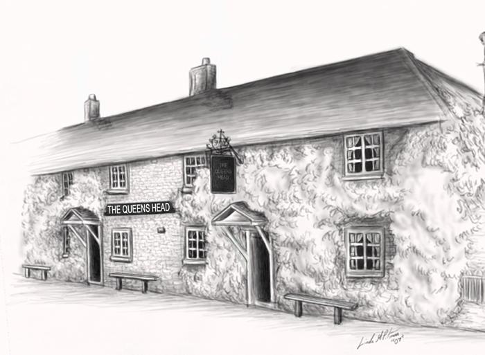 queens head pub by sheblackdragon on deviantart. Black Bedroom Furniture Sets. Home Design Ideas