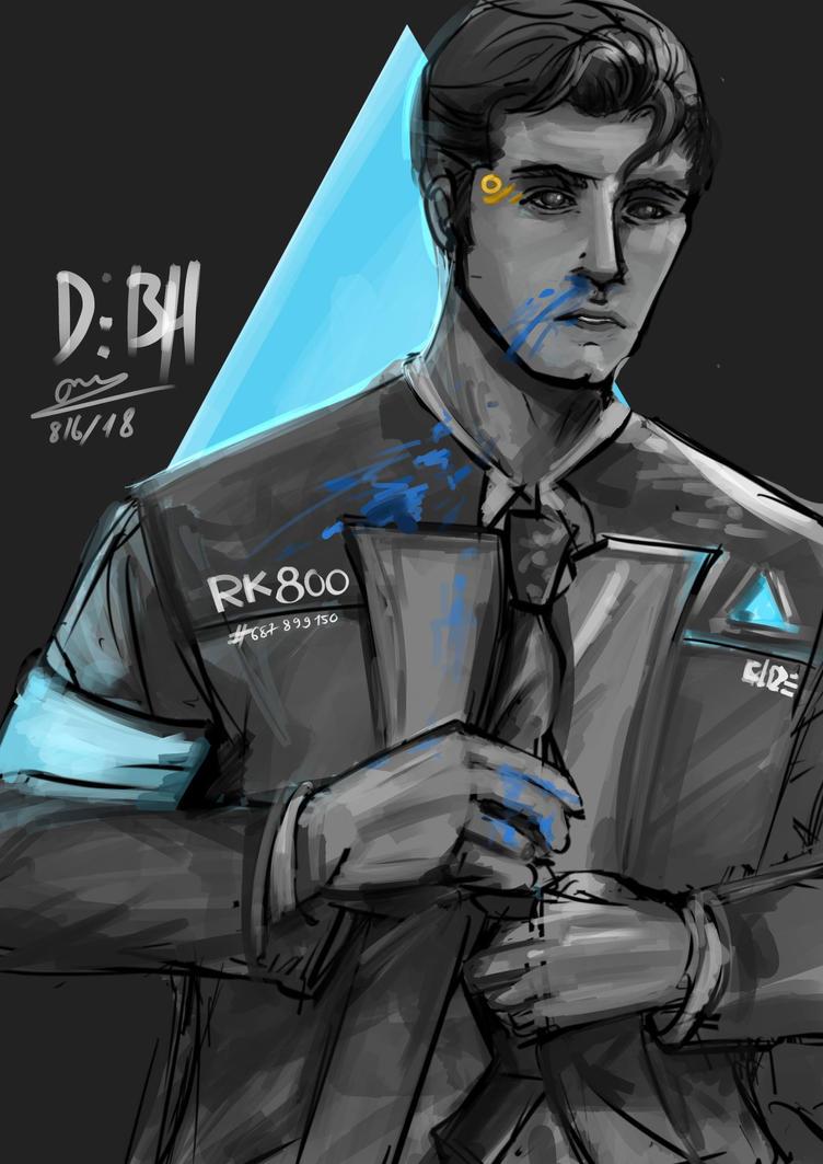 RK800/Connor Sketchdump by Ran196242