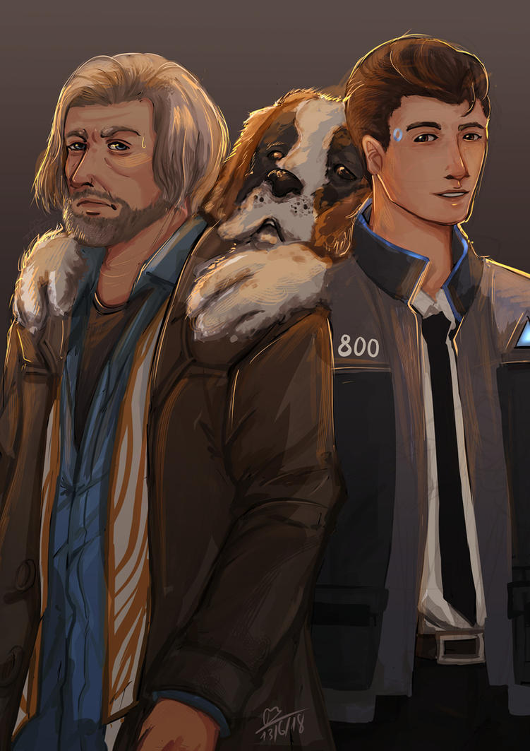 Hank, Connor and Sumo by Ran196242