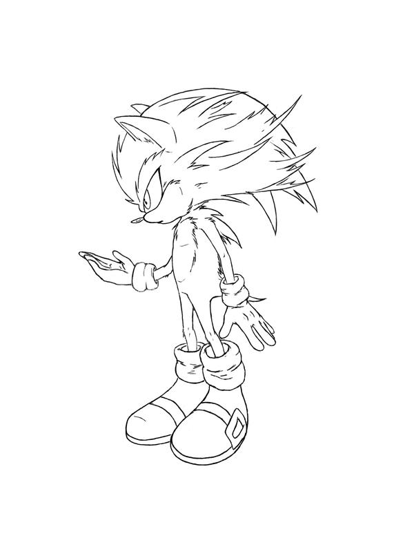 Sonic - lineart by Jolly-Imp
