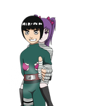 AT: Rock Lee piggy back ride