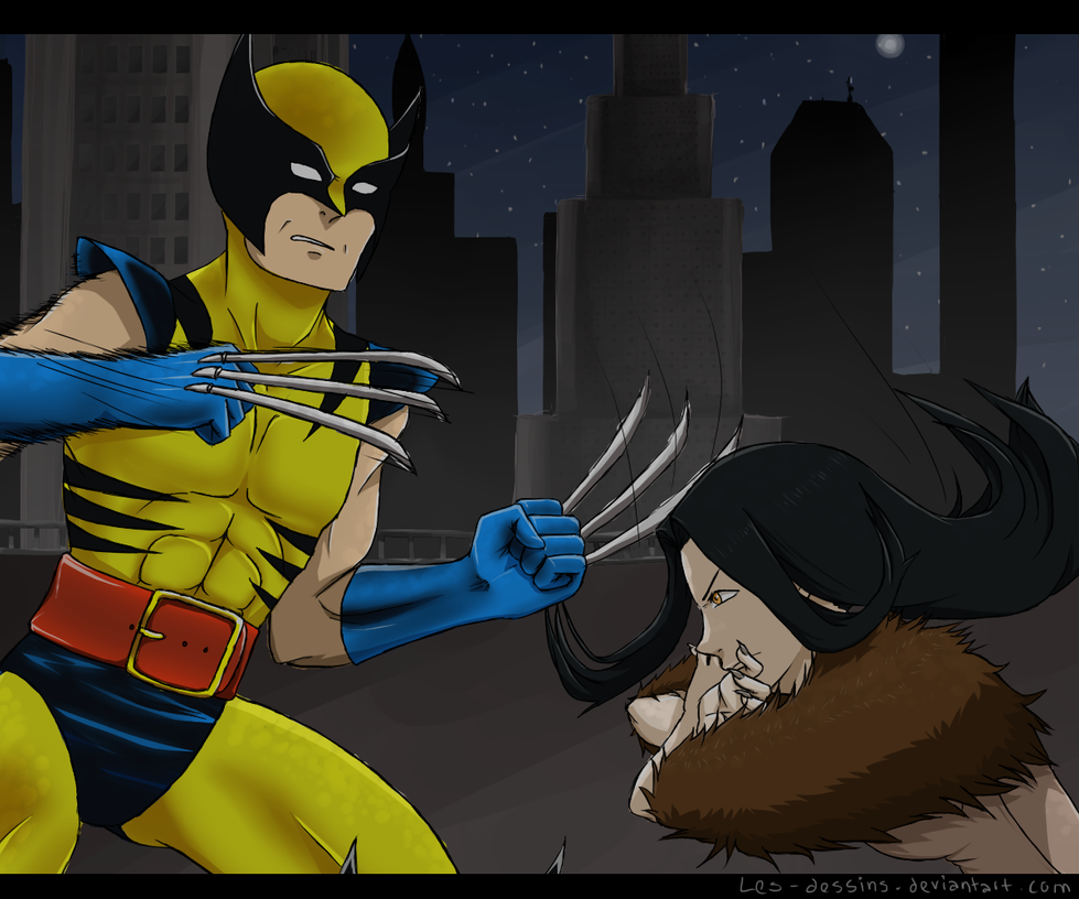 AR: Wolverine Vs Riley by Les-Dessins