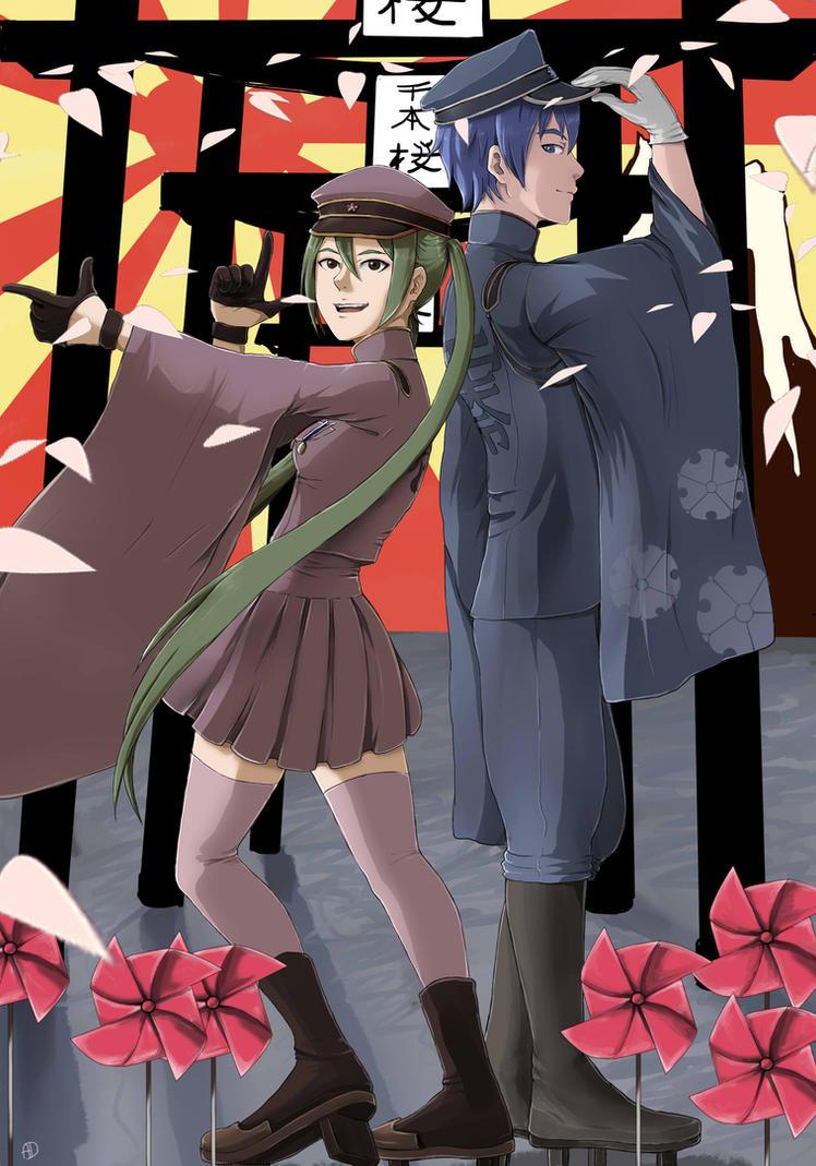 Commission: Senbonzakura Miku and Kaito by Les-Dessins