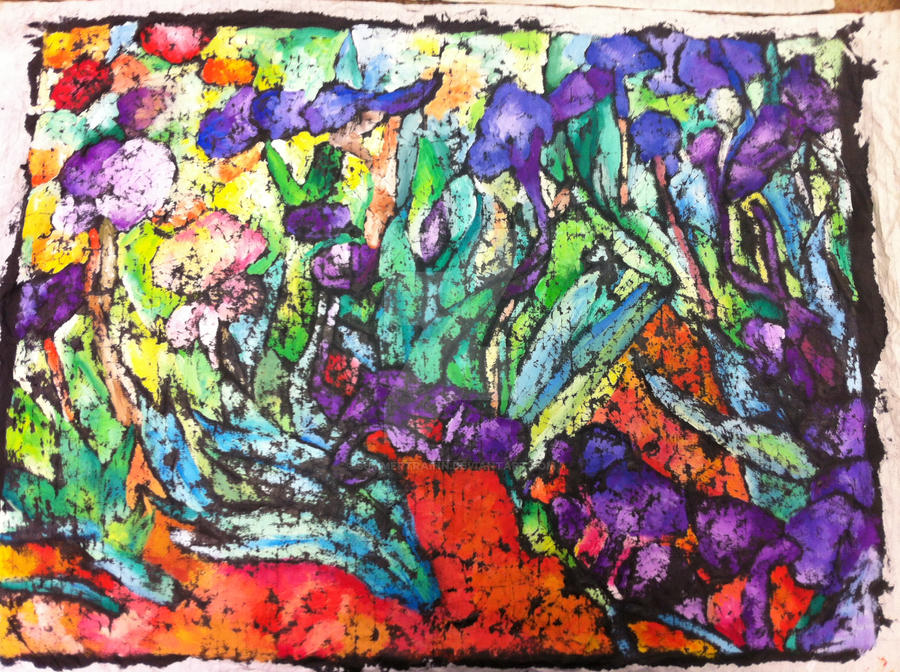 Irises by Vincent Van Gogh Reproduction by summertrainn on DeviantArt