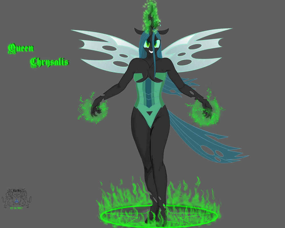 All Hail Queen Chrysalis by ligerfox