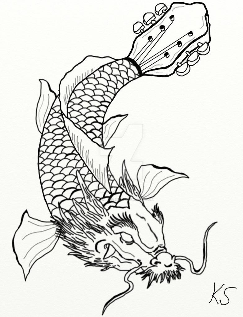 Koi fish dragon guitar by kaosrebel666 on deviantart for Koi fish guitar