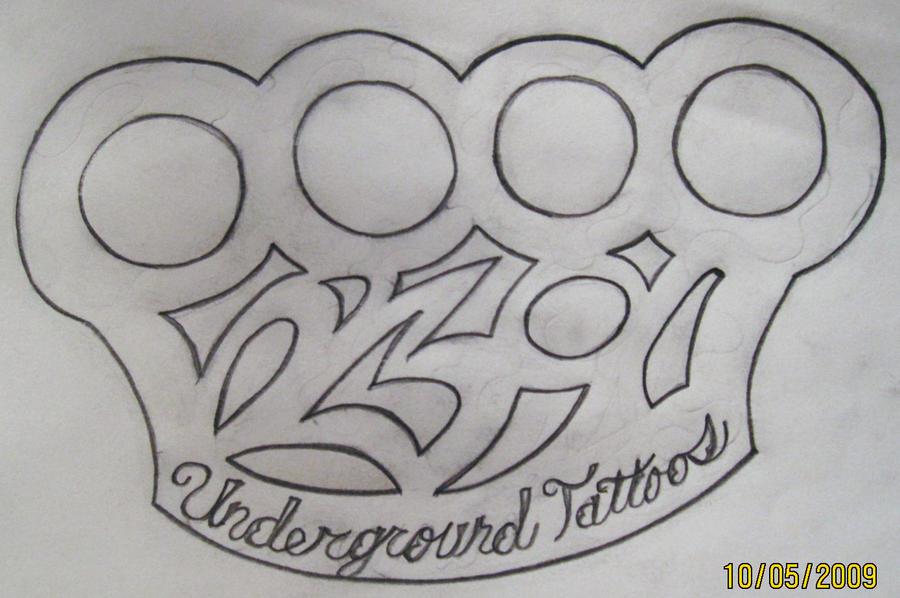 brass knuckle logo by undergroundtattoos on deviantart. Black Bedroom Furniture Sets. Home Design Ideas