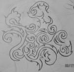 small tribal vine drawing