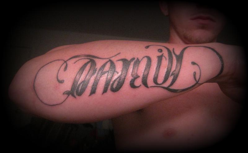 Family Forever Tattoos Family forever amibigram by