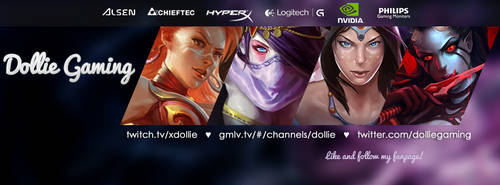 Dollie Gaming - Facebook cover photo by kczajkowska