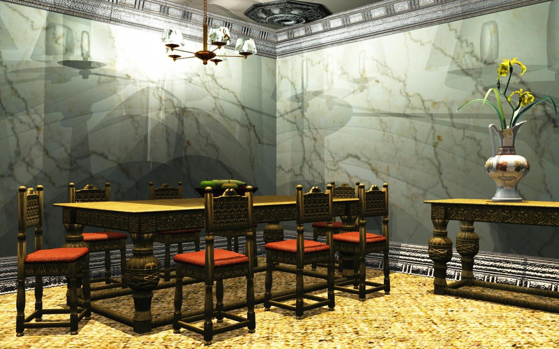 Wallpaper dining room by kabegami wallpapers fondos for 3d wallpaper for dining room